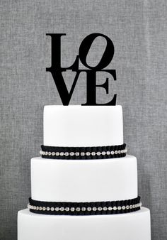 ON SALE Wedding Cake Topper - Philadelphia LOVE Cake Topper by Chicago Factory on Etsy, $15.00