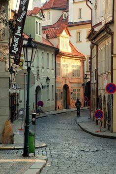 Cobblestone streets in Prague, Czech/ travel destinations/ beautiful places Places Around The World, Oh The Places You'll Go, Places To Travel, Places To Visit, Around The Worlds, Visit Prague, Prague Czech Republic, Voyage Europe, Belle Villa