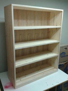 Hand-made Pine Bookshelf (unfinished)