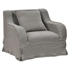 charcoal linen slip cover <3 <3 <3