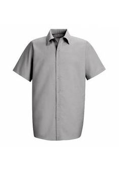 203dd7ca7c83b Red Kap Mens Short Sleeve Specialized Pocketless Work Shirt Big and Tall  Sizes up to 4XL