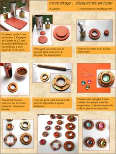 polymer clay tutorial - making your own bezels. (French) #Polymer #Clay #Tutorials