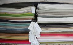 Some of the linen colors I carry for your custom bedding, curtains, slipcovers, and pillow needs
