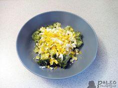 Brokolice s česnekem a vajíčkem