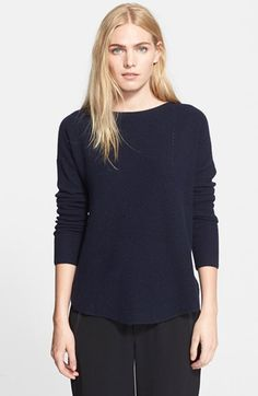Vince Boat Neck Shirttail Hem Sweater available at #Nordstrom