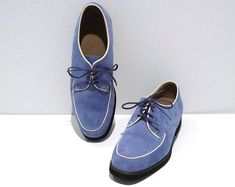 7d920ae7ea3475 Reserved Hush Puppies Shoes Vintage Two Tone Oxfords Size 8.5 Womens Teal  Cream Suede Leather Lace Up Flats 1990s Rockabilly Hipster Preppy