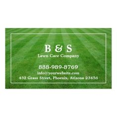Lawn Care Field Gr Business Card