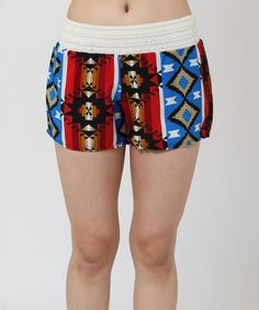 Look what I found on #zulily! Red & Blue Tribal Shorts by funkitribe #zulilyfinds