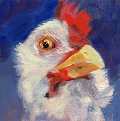 Rooster, Alice, Painting, Animals, Art, Animais, Craft Art, Animales, Animaux