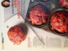 Mini Meatloaf - People Magazine.