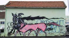 David Choe mural at NuArt Festival in Norway -Tagging: Din ukultur er min kultur - Tagging: Your uncultured is my culture - Aftenbladet.no