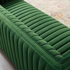 Modway Velvet Sofa EEI3885EME Emerald   Appliances Connection Velvet Tufted Sofa, Upholstered Sofa, Sofa Furniture, Furniture Design, Velvet Furniture, Luxury Furniture, Seat Cushion Foam, French Sofa, Inexpensive Furniture