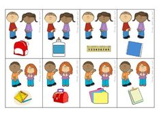 Free! Back to School Possessives 48 cards