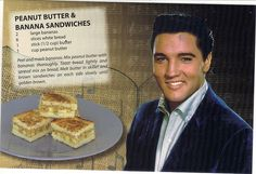 Elvis Presley's Fried Peanut Butter and Banana is a classic. The King loved his peanut butter and banana sandwiches but with a twist - they. Elvis Sandwich, Banana Sandwich, Grilled Sandwich, Retro Recipes, Vintage Recipes, Elvis Presley Kuchen, Star Food, Pound Cake Recipes, Pound Cakes