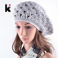 Купить товар2016 зима береты cap boina feminina женщин hat береты ручной вязаные шапки для женщин gorras planas капот в категории Беретына AliExpress.      продукт1. В разных компьютерах отображают цвета по-разному, цвет самого элемента могут незначительно отличаться от