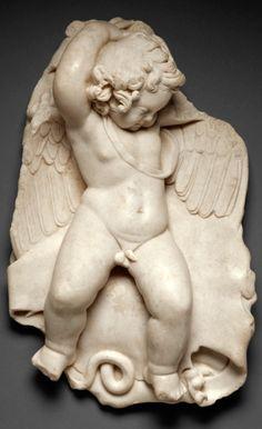 Statuette of a Sleeping Cupid, Roman, 50-100