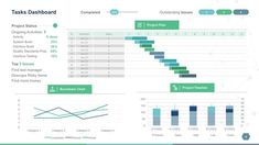Powerpoint template to report metrics, KPIs, and project development status. Project Management, Time Management, Change Management, Number Cruncher, Excel Dashboard Templates, Project Status Report, Performance Measurement, Powerpoint Format, Report Template