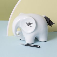 Eric The Memo Elephant is a ceramic memo board. Simply jot your notes on on him.