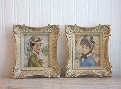Framed Print Vintage Prints Impressionism Portraits by MollyFinds, $42.00 #vintage #print #framed #victorian #cottage #artdeco