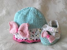 Baby Hats Knitting Knit Baby Hat Knitted Lace Baby Hats Knit Baby Hat Baby Hat with Bow Cotton Knit Baby Hat Children Clothing by CottonPickings on Etsy