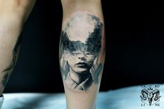 You can find more double exposure tattoos by Caroline Friedmann on internet.