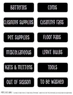 Quick Tips for Organizing a Mudroom + FREE Printable Labels