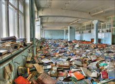 Une librairie abandonnée en Russie