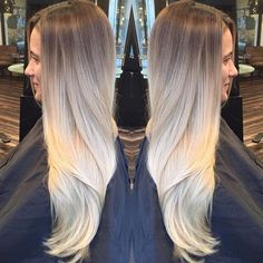 Loved creating this cool look to this long blonde hair.