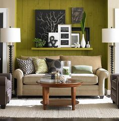 Living room...great picture grouping !