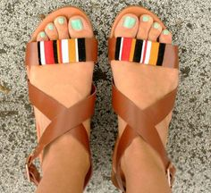 DIY Sandals and Flip Flops - Tribal Wrap Sandals - Creative, Cool and Easy Ways to Make or Update Your Shoes - Decorate Flip Flops with Cheap Dollar Store Crafts and Ideas - Beaded, Leather, Strappy and Painted Sandal Projects - Fun DIY Projects and Crafts for Teens and Teenagers http://diyprojectsforteens.com/diy-sandals