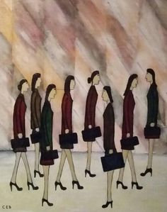 Handbags | See more Figurative Paintings at https://www.1stdibs.com/art/paintings/figurative-paintings on 1stdibs