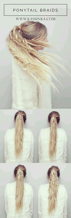 Ponytail braids tutorial