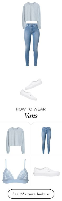 """Untitled #1669"" by yourmajestyjordine on Polyvore featuring La Perla, 7 For All Mankind, Vans and MANGO"