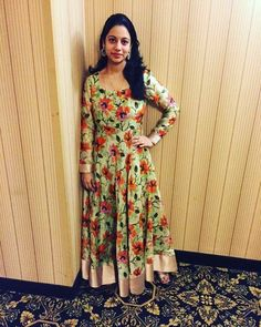 Sari Dress, Anarkali Dress, Kurta Designs, Blouse Designs, Anarkali Patterns, One Piece Gown, Dress Paterns, Frocks And Gowns, Long Frock