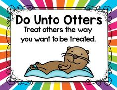 Do Unto Otters - FREE Manners Posters First Day Of School Activities, Teaching First Grade, Teaching Manners, Teaching Ideas, New School Year, Back To School, Do Unto Otters, Social Emotional Learning, Social Stories