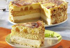 Cel mai bun tort cu piersici #delicious Romanian Desserts, Romanian Food, Moka, Sweets Recipes, Sweet Treats, Cheesecake, Food And Drink, Fruit, Cooking