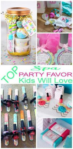 Party Favors! Spa party favors that kids and adults will love! Easy ideas that boys and girls will love to take home as a gift from your spa theme party. DIY ideas, goodie bags, candy, toys and more. Find the best spa party favor ideas now!