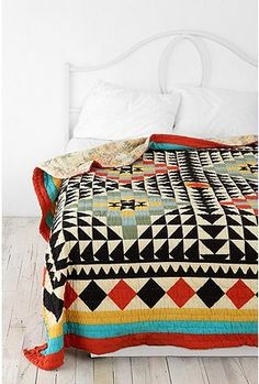 Southwestern quilt. #quilt, #southwestern, #colorful