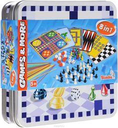 """Simba Настольная игра 8 в 1  — 891 руб.  —  С помощью настольной игры Simba """"8 в 1"""" можно играть в такие игры, как шашки, шахматы, нарды, """"мельница"""", """"без паники"""", """"хальма"""", """"в одиночку"""", - так называемый солитер. Если вы хотите сделать очень полезный подарок вашему ребенку, то обратите свое внимание на данный набор. Используя его, вы обеспечите своему малышу интересный досуг, ведь каждый вечер он может играть в разные игры (в наборе их восемь). В эти игры можно играть вдвоем, а можно…"""
