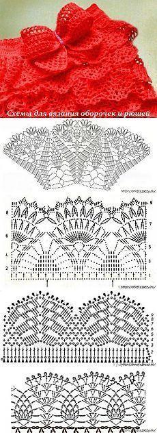 Схемы для вязания оборочек и рюшей