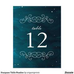 Stargazer Table Number 4.25x5.5 Paper Invitation Card