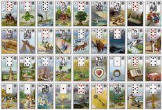 baralho cigano, baralho lenormand, baralho, tarot, baralho 36 cartas, baralho madame lenormand