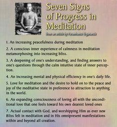 Seven Signs of Progress in Meditation from Yogananda. Vipassana Meditation, Mindfulness Meditation, Guided Meditation, Meditation Benefits, Spiritual Awakening Quotes, Spiritual Images, Yogananda Quotes, Meaningful Quotes, Inspirational Quotes