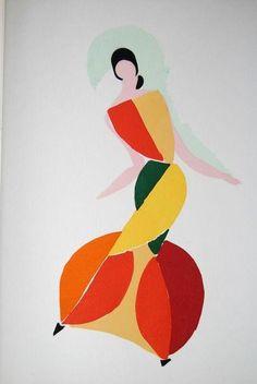 Fashion illustration by Sonia Delaunay Sonia Delaunay, Robert Delaunay, Art Abstrait, Art Plastique, Mode Inspiration, Geometric Shapes, Illustration Art, Sketches, Sketch Drawing