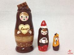 CHOCOLATE LOVE Matryoshka by ufuLIFE on Etsy,