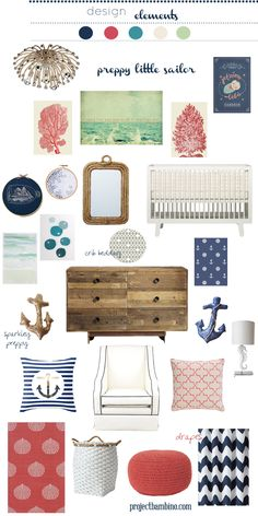 #nautical themed #nursery for a #girl
