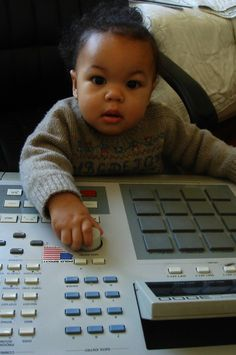 daughter on his MPC 3000 J Dilla, Men's Day, Dj Equipment, Drum Machine, Jack Black, Rock N Roll, Drums, Beats, To My Daughter