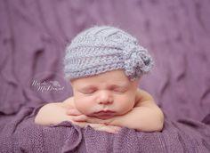 Newborn crochet hat baby girls lacy textured by cutiepiegoodies, $22.00