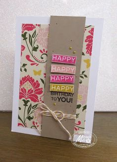 Stampin Utopia & Stampin Up!; All Abloom, Amazing Birthday