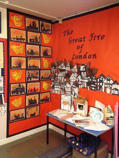 Such an amazing classroom! The Great Fire of London display. Teaching Displays, Class Displays, School Displays, Classroom Displays, The Fire Of London, After School Care, Role Play Areas, Horrible Histories, The Great Fire